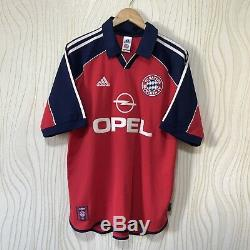 Bayern Munich 1999 2001 Home Football Shirt Soccer Jersey Adidas Elber #9