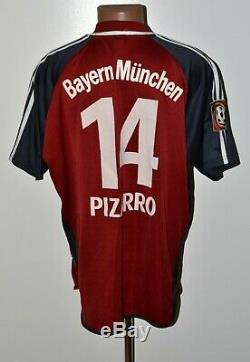 Bayern Munich 2000/2001 Home Football Shirt #14 Pizarro Adidas Size XL Adult