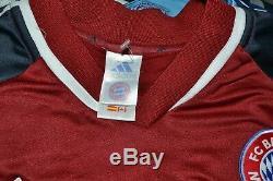 Bayern Munich 2000/2001 Home Football Shirt #14 Pizarro Adidas Size XL Adult