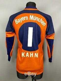Bayern Munich 2000 2001 Kahn Goalkeepr Football Soccer Jersey Adult Size S