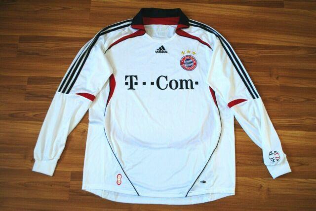 Bayern Munich 2006/07 Away Football Shirt Soccer Jersey Adidas Longsleeve Signed
