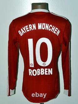 Bayern Munich 2009/2010 Home Football Shirt Jersey Adidas Robben Long Sleeve