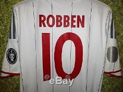 Bayern Munich 2009 2010 Third UCL #10 ROBBEN Jersey Adidas Soccer Shirt Size M