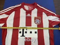 Bayern Munich 2010-2011 home match worn formation Jersey German Cup