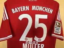 Bayern Munich 2012\2013 Football Jersey Camiseta Soccer Trikot #25 Muller Adidas