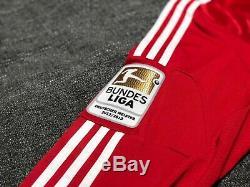 Bayern Munich 2013-2014 Home Jersey Long Sleeve PATCHES Thomas Müller/Muller XL