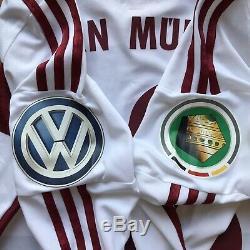 Bayern Munich 2014 2015 Away Football Shirt Jersey Match Worn Adidas #18 Bernat