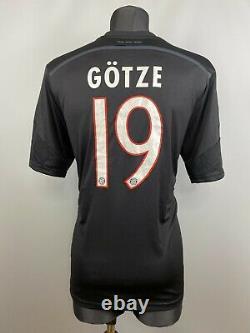 Bayern Munich 2014 2015 Gotze Third Shirt Football Soccer Jersey Adidas Size XL