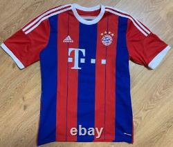 Bayern Munich 2014/2015 Signed Home Football Shirt Jersey Badstuber #28 Size L
