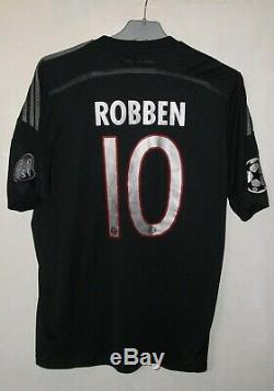 Bayern Munich 2014-2015 Third CL football shirt jersey adidas size M #10 Robben