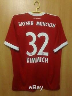 Bayern Munich 2017/2018 Home Football Shirt Jersey Trikot Joshua Kimmich #32