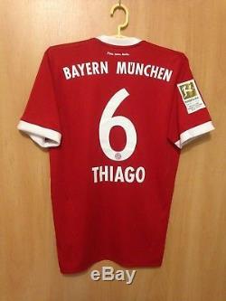 Bayern Munich 2017/2018 Home Football Shirt Jersey Trikot Thiago Alcantara #6