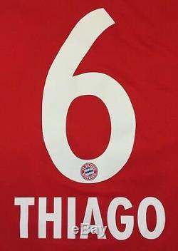 Bayern Munich 2018 2019 #6 Thiago Home Football Soccer Shirt Jersey Adidas L
