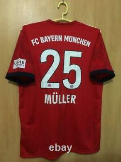 Bayern Munich 2018/2019 Home Football Shirt Jersey Trikot Thomas Muller #25
