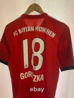 Bayern Munich 2018/2019 Player Issue Home Football Shirt Jersey Goretzka #18
