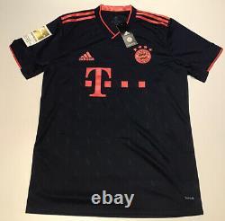 Bayern Munich 2019-20 Third Jersey Navy adidas M-XL NWT Lewandowski #9