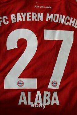Bayern Munich 2019 2020 Adidas Home Alaba Player Issue Shirt Jersey Size M