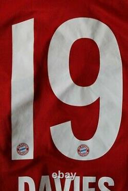 Bayern Munich 2020 2021 Davies Adidas Home Soccer Shirt Jersey Size S