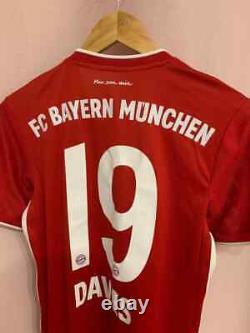 Bayern Munich 2020/2021 Home Football Shirt Jersey Trikot Alphonso Davies #19