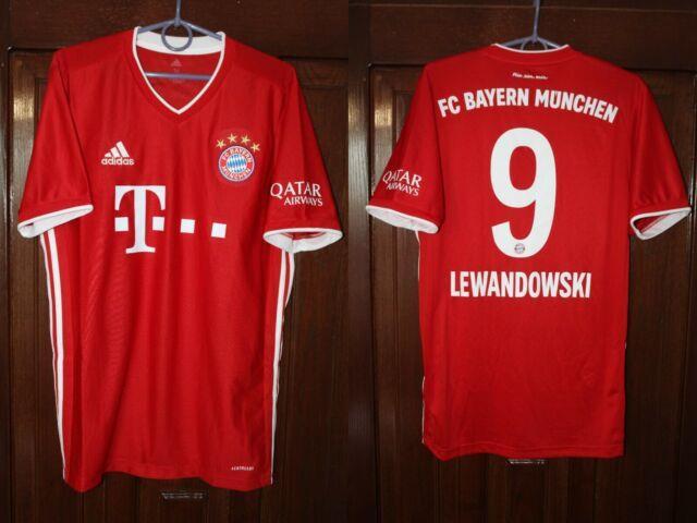 Bayern Munich 2020 2021 Lewandowski Adidas Home Soccer Shirt Jersey Size M