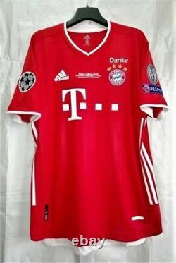 Bayern Munich 2020 Champions League Final Lisbon Jersey Lewandowski 9 Size 8
