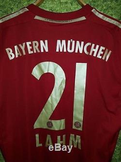 Bayern Munich #21 Lahm 2012/2013 Home Football Shirt Soccer Jersey Adidas Size L