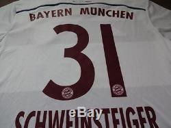 Bayern Munich #31 Schweinsteiger 100% Original Jersey Shirt 2014/15 Away L BNWT