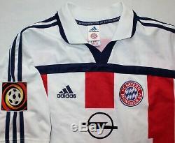 Bayern Munich #6 Wiesinger Match Worn Shirt 2001/02 XL Adidas Jersey