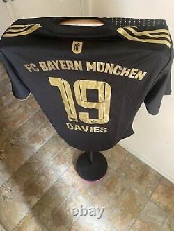 Bayern Munich Alphonso Davies Black 2021 Jersey US Adult Large