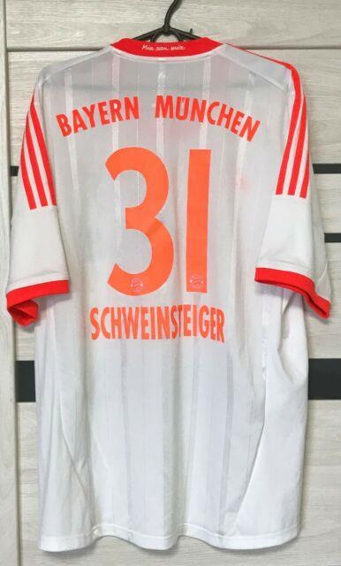 Bayern Munich Away Football Shirt 2012-2013 Jersey Adidas Size Xl Schweisteiger
