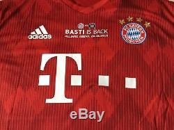 FC BAYERN MÜNCHEN BASTI IS BACK TRIKOT Größe XL 31