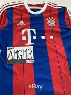 Bayern Munich Bundesliga Champions League Soccer Football Adidas Jersey Sz L