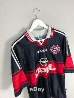 Bayern Munich ELBER #9 97/99 Home Football Shirt (L) Soccer Jersey Adidas