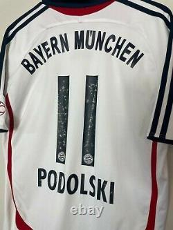 Bayern Munich Football Shirt Kit Jersey Podolski #11 2006/2007 Away Men's Medium