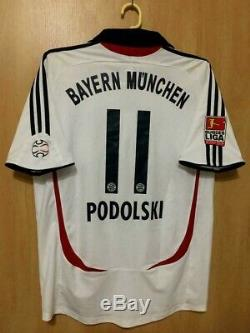 Bayern Munich Germany 2007/2008 Away Football Shirt Jersey Trikot Podolski #11