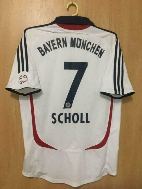 Bayern Munich Germany 2007/2008 Away Football Shirt Jersey Trikot Scholl #7