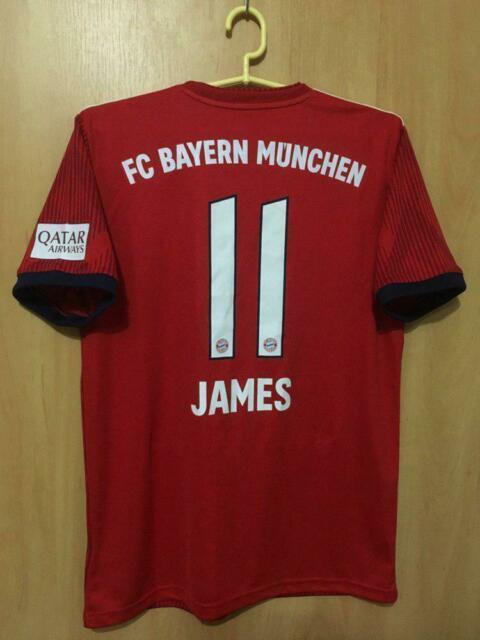 Bayern Munich Germany 2018/2019 Home Football Shirt Jersey Trikot James #11