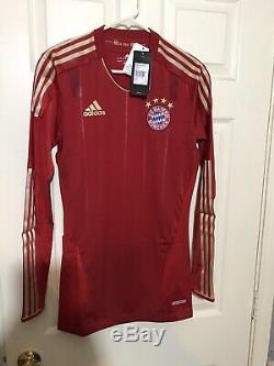 Bayern Munich Germany Adidas Techfit Soccer Player Issue Football Trikot 6Jersey