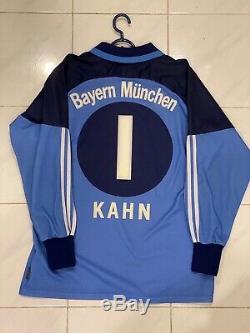 Bayern Munich Goalkeeper Jersey 2000/2001 Oliver Kahn Size Medium #1