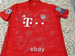 Bayern Munich Hand Signed By 19/20 Ucl Winners Shirt/jersey + Coa