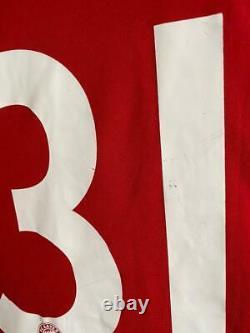 Bayern Munich Home 2007/09 #31 Schweinsteiger Signature Football Shirt Jersey
