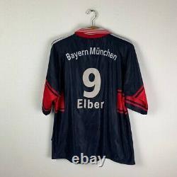 Bayern Munich Home Football Kit Shirt 1997/1998 #9 Elber Vintage Soccer Jersey L