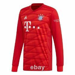 Bayern Munich Home Jersey Men's Long Sleeve 19/20