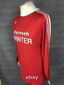 Bayern Munich Home Shirt 1975-76 Adidas Football Soccer Jersey West Germany L