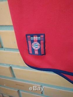Bayern Munich Home football shirt #3 Lizarazu 1999-2001 jersey Adidas Size L