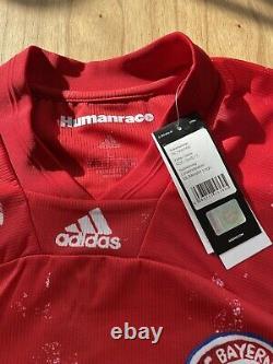 Bayern Munich Humanrace Jersey Adidas Robert Lewandowski Men's NWT LARGE