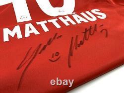 Bayern Munich Jersey signed by Lothar Matthäus Germany with USB Size M Adidas