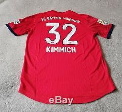 Bayern Munich Joshua Kimmich Match Issue Jersey v Freiburg 3 Nov 2018 Size 8