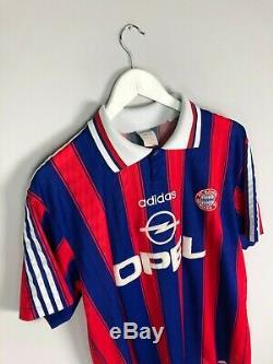 Bayern Munich KLINSMANN #18 95/97 Home Football Shirt (L) Soccer Jersey Adidas