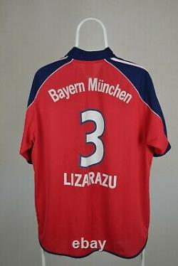 Bayern Munich LIZARAZU # 3 1999 2001 FOOTBALL SHIRT JERSEY HOME ADIDAS SIZE L